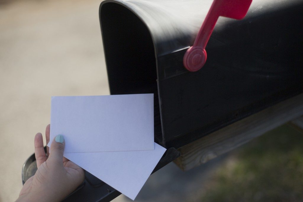 envelopes in the mailbox