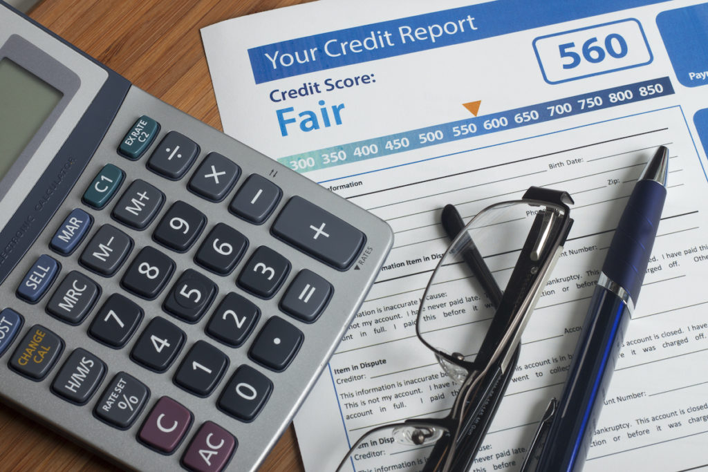 fair credit score report