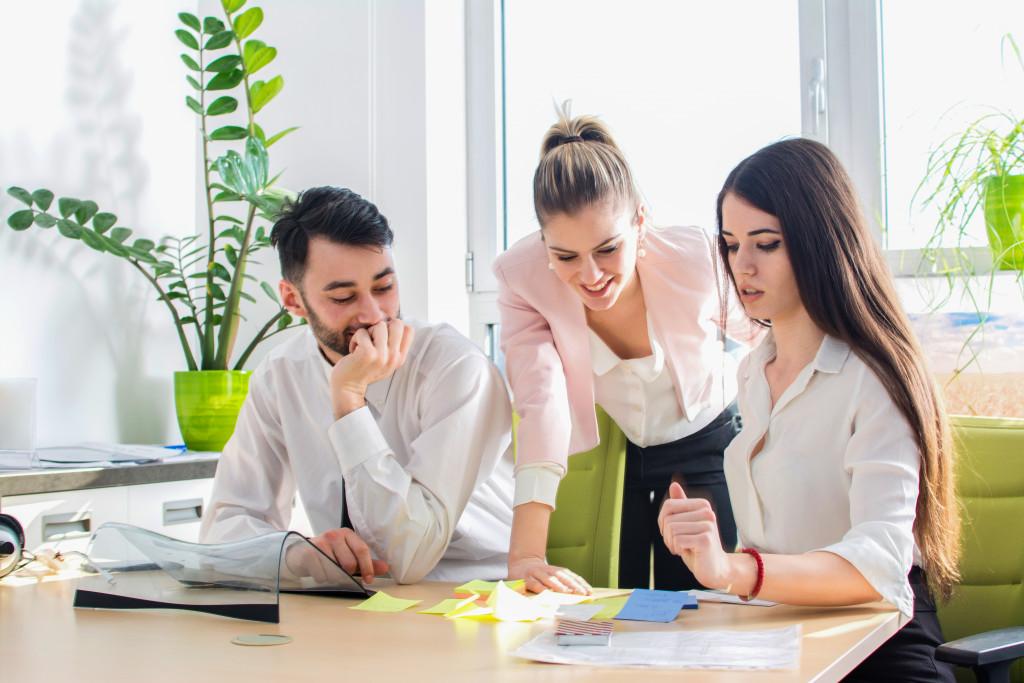 employees working