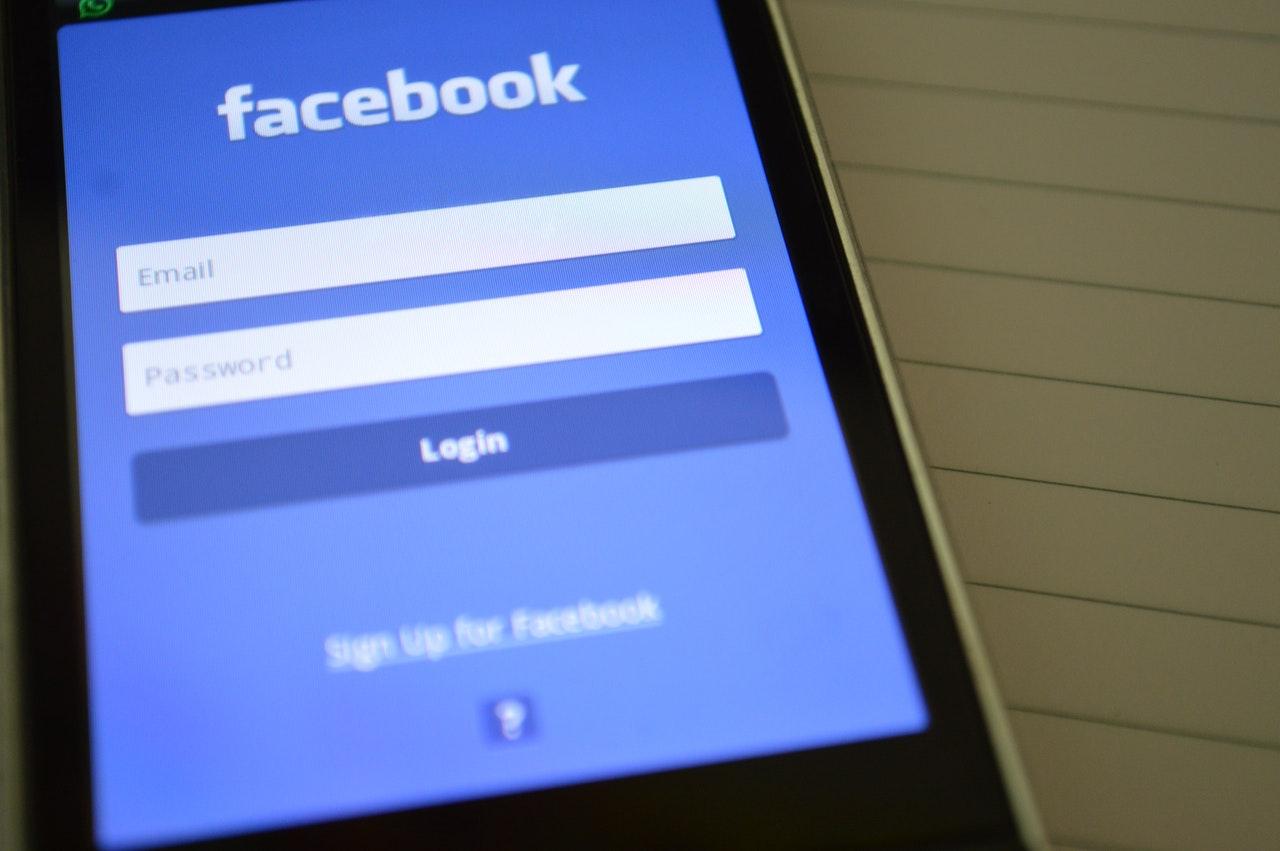 facebook app login page